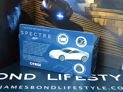 Corgi Aston Martin DB10 1 36 box back