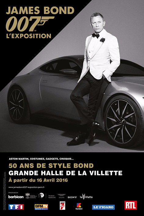 James Bond Daniel Craig Aston Martin DB10 Paris Designing 007 poster