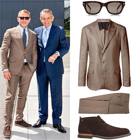 Daniel Craig Switzerland Omega factory Brunello Cucinelli