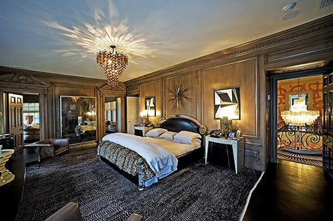 Albert Broccoli Tom Ford Wearstler villa beverly hills bedroom