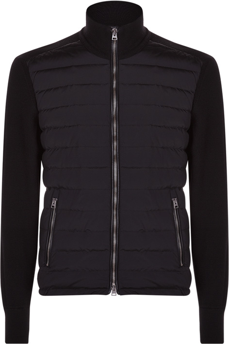 Tom Ford James Bond sweater bomber jacket SPECTRE in black
