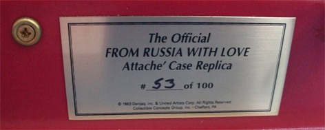 SD Studios Attache Case From Russia With Love Limited Edition number