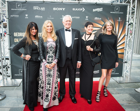 george lazenby bond girls red carpet