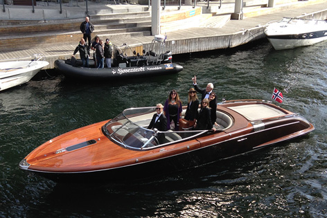 james bond george lazenby bond girls oslo riva speedboat