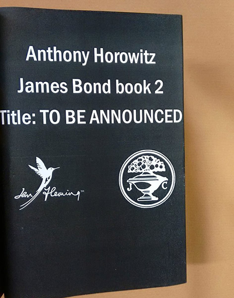 anthony horowitz new james bond book announced
