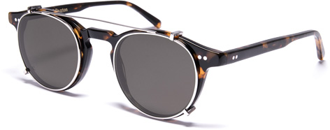 Curry Paxton James Dean clip-on sunglasses
