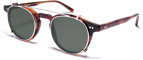 curry paxton light james dean clip-on sunglasses