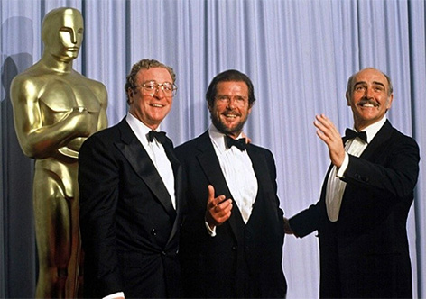 Michael Caine Roger Moore Sean Connery