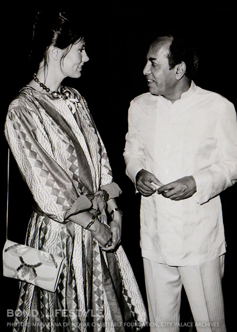Ms. Maud Adams - Maharana Bhagwat Singh Mewar Cocktail party hosted by Maharana Bhagwat Singh Mewar for Mr. Roger Moore and the Octopussy cast and crew.