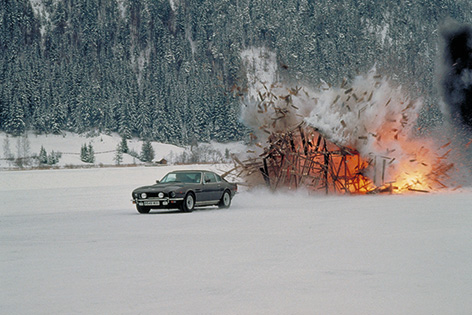 Aston Martin V8 vantage Living Daylights ice lake