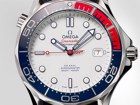 Omega Seamaster 300M Commander watch face dial bezel detail 007