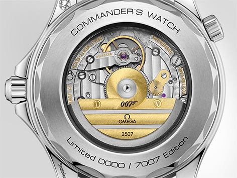 Omega Seamaster 300M Commander watch caseback