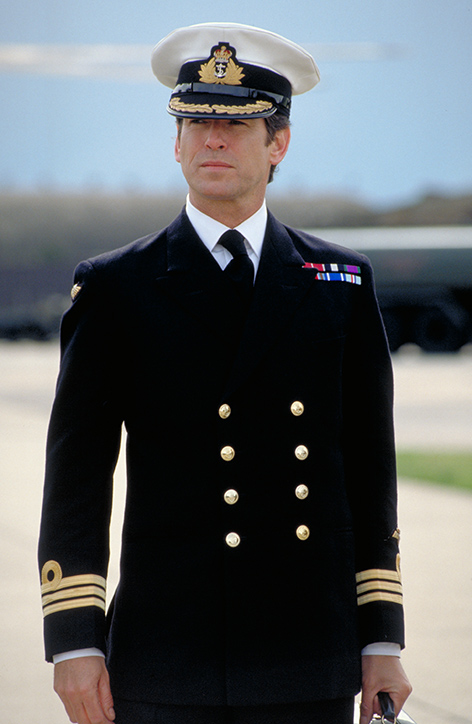 Pierce Brosnan wears Naval Uniform in Tomorrow Never Dies