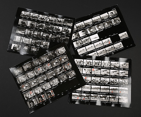 Set of Four James Bond Roger Moore and Kananga Yaphet Kotto Contact Sheets