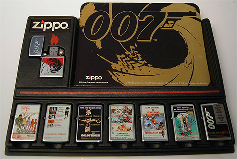 zippo 007 james bond lighter 1996 collection