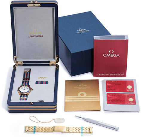 Omega Commander's Box auction christies gold james bond