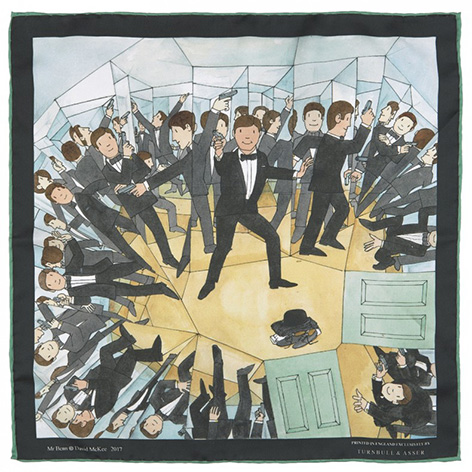 James Bond Mr Benn Pocket Squares Turnbull Asser 1