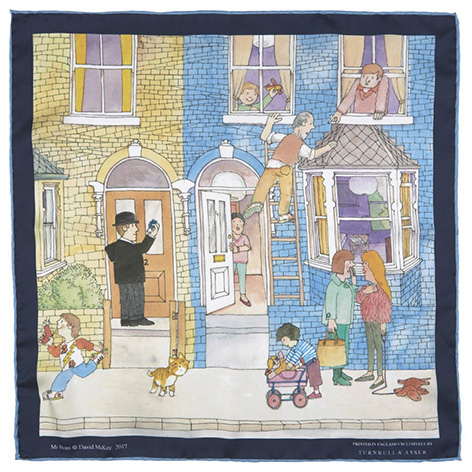 James Bond Mr Benn Pocket Squares Turnbull Asser 2