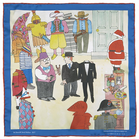 James Bond Mr Benn Pocket Squares Turnbull Asser 3