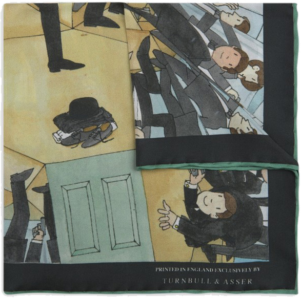 James Bond Mr Benn Pocket Squares Turnbull Asser folded