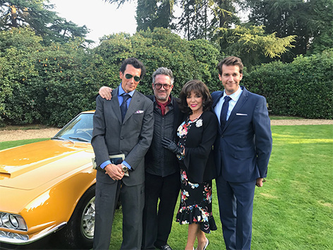 pinewood studios roger moore stage joan collins sons