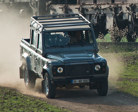 land rover defender skyfall moneypenny