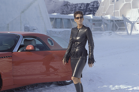 Halle Berry die another day versace leather jacket gina boots