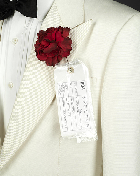 tom ford spectre dinner jacket red carnation james bond