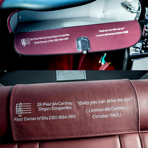 paul mccartney aston martin db5 bonhams auction interior text beatles