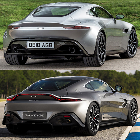 Aston Martin DB10 and Vantage comparison compare