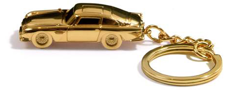 aston martin db5 gold keychain a-box