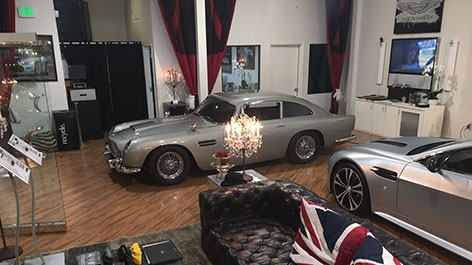 aston martin db5 model on display sale