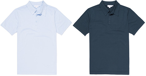 Sunspel Ian Fleming Collection lifestyle polo shirts