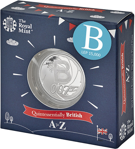 the royal mint limitd edition james bond coin 10p silver packaging box 15000
