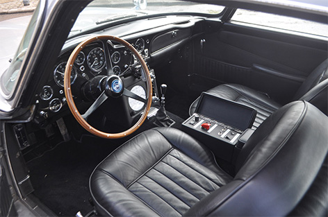 Aston Martin DB5 with goldfinger modifications for sale black interior