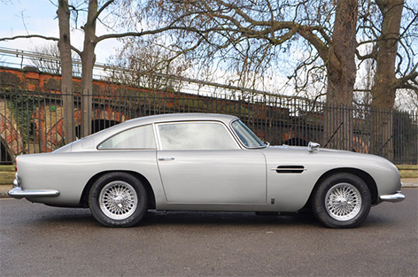 Aston Martin DB5 with goldfinger modifications for sale side view