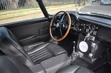 Aston Martin DB5 with goldfinger modifications for sale goldfinger interior
