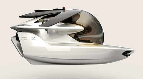 aston martin triton submarine side