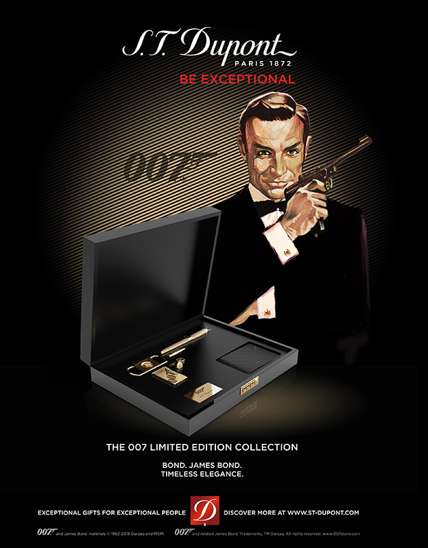 S.T. Dupont James Bond 007 Limited Edition Collection gun set cufflinks Sean Connery