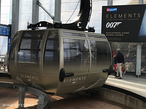 007 Elements solden gaislachkogl james bond gold gondola cable car