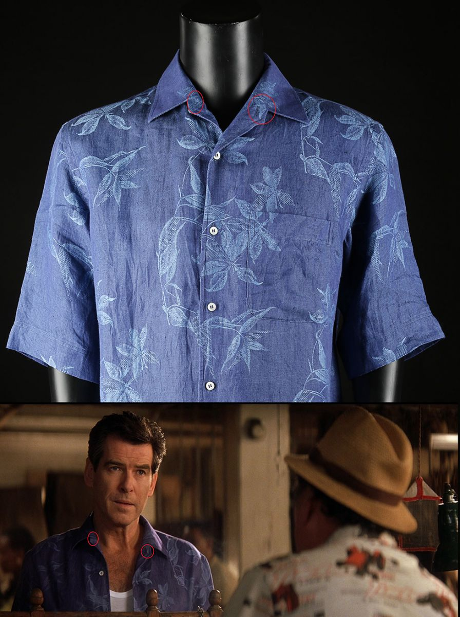 James Bond's (Pierce Brosnan) Brioni Floral Shirt