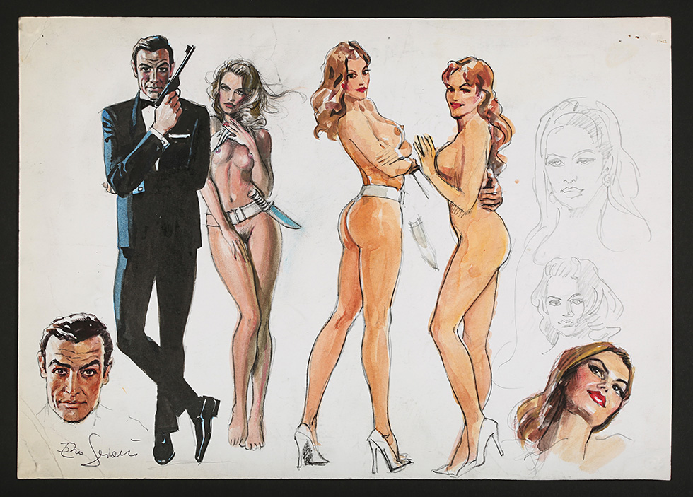 Enzo Sciotti Signed Hand-Painted Concept Poster Art Dr No