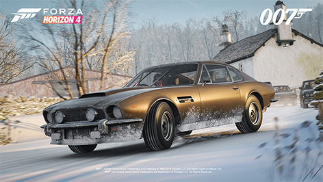 Forza Horizon 4 Ultimate Edition James Bond car pack Aston Martin DBS OHMSS
