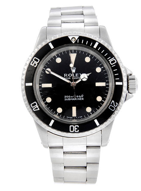 Rolex Submariner Licence To Kill auction front