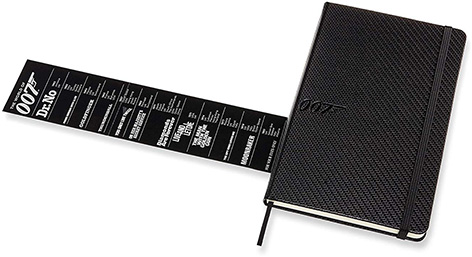 Moleskine 007 Limited Edition Notebook - Carbon list movies