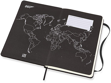 Moleskine 007 Limited Edition Notebook - Movies worldmap