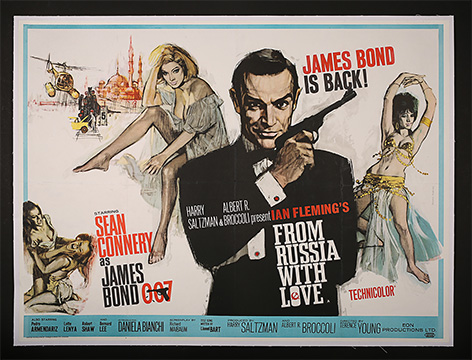 James Bond From Russia With Love Poster Prop Store auction