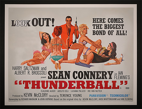 James Bond Thunderball Poster Prop Store auction
