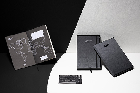 Moleskine James Bond 007 notebook open