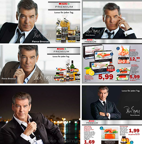 Pierce Brosnan brand ambassador Spar Premium advertisements 2011-2016